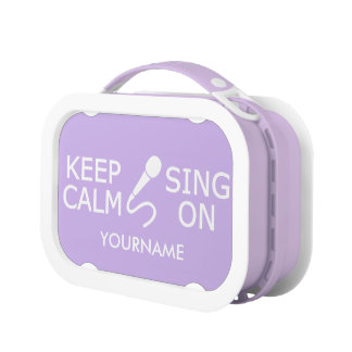 Keep Calm & Sing On custom color lunch boxes