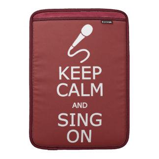 Keep Calm & Sing On custom color MacBook sleeve