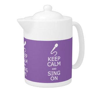 Keep Calm & Sing On custom color teapot