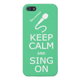 Keep Calm & Sing On custom iPhone cases Case For iPhone 5/5S