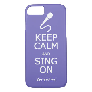 Keep Calm & Sing On custom phone cases