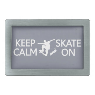 Keep Calm & Skate On custom color belt buckle