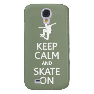 Keep Calm & Skate On custom color HTC case