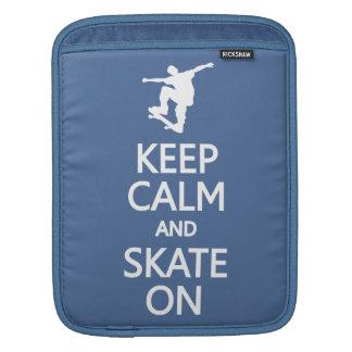 Keep Calm & Skate On custom color iPad sleeve