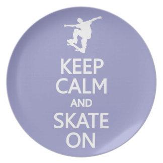 Keep Calm & Skate On custom color plate
