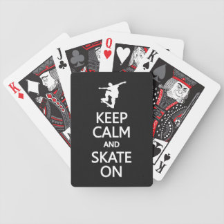 Keep Calm & Skate On custom color playing cards