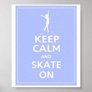 Keep Calm... Skates on Poster