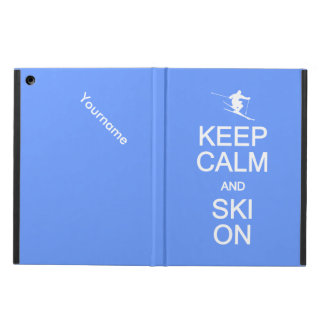 Keep Calm & Ski On custom cases iPad Air Cover