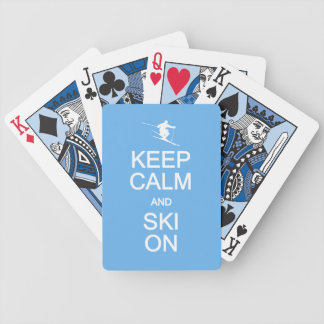 Keep Calm & Ski On custom playing cards