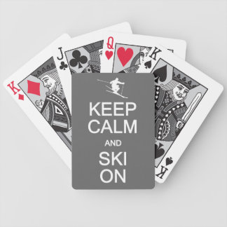 Keep Calm & Ski On playing cards