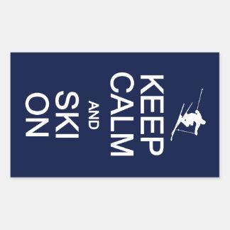 Keep Calm & Ski On stickers