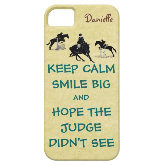Keep Calm, Smile Big Equestrian Case For The