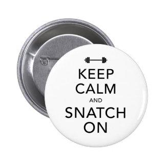 Keep Calm Snatch On Black 6 Cm Round Badge