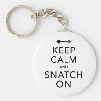Keep Calm Snatch On Black Basic Round Button Key Ring