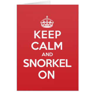 Keep Calm Snorkel Greeting Note Card