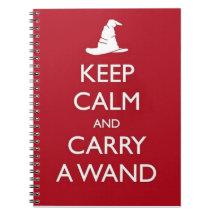 Keep Calm Spiral Notebooks