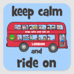 keep calm square stickers