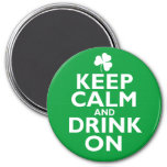 Keep Calm St Patricks Day Humour 7.5 Cm Round Magnet