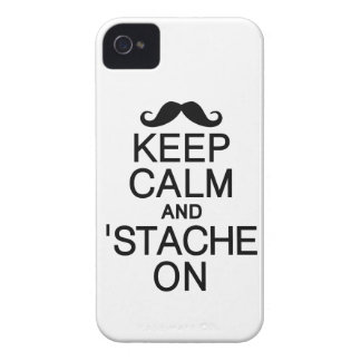 Keep Calm & 'Stache On Blackberry Bold case