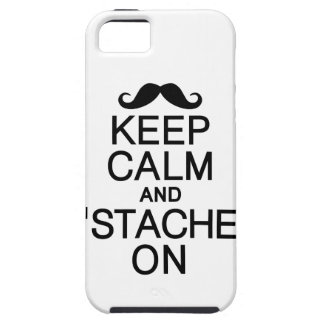 Keep Calm & 'Stache On iPhone 5 Case-Mate