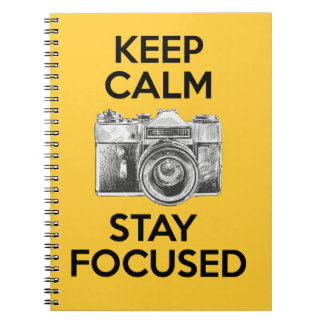 Keep Calm Stay Focused Spiral Note Books