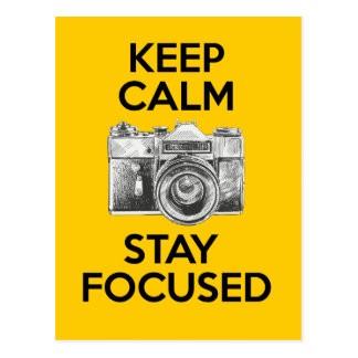 Keep Calm Stay Focused Postcards