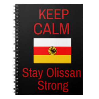 Keep Calm, Stay Olissan Strong Notebook