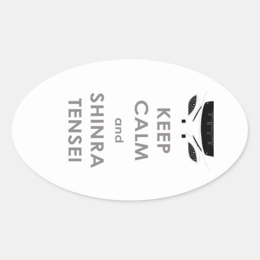 keep calm oval sticker