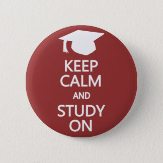 Keep Calm & Study On custom button