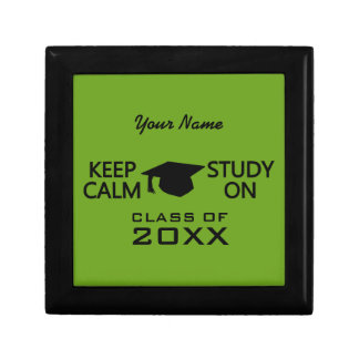 Keep Calm & Study On custom color gift box