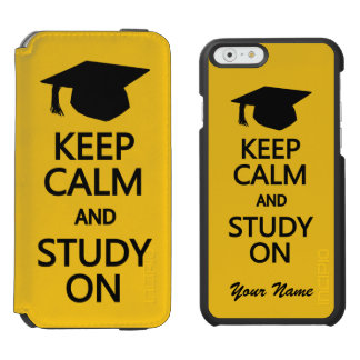 Keep Calm & Study On custom color wallet cases Incipio Watson™ iPhone 6 Wallet Case