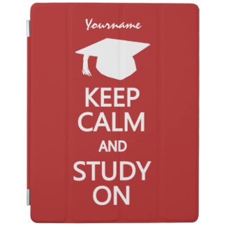 Keep Calm & Study On custom device sleeves iPad Cover