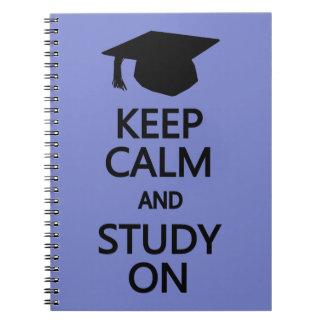 Keep Calm & Study On custom notebook