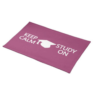 Keep Calm & Study On custom placemat