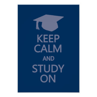 Keep Calm & Study On custom poster
