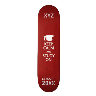 Keep Calm & Study On custom skateboards