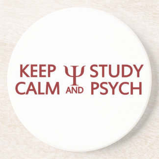 Keep Calm & Study Psych custom coaster