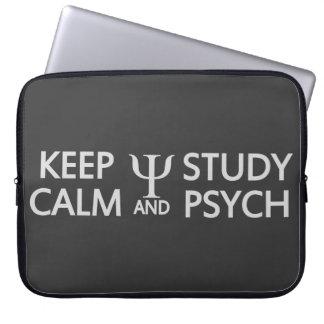 Keep Calm & Study Psych custom laptop sleeve