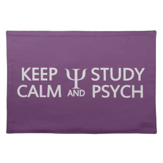Keep Calm & Study Psych custom placemat