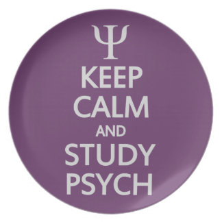 Keep Calm & Study Psych custom plate