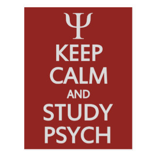 Keep Calm & Study Psych custom postcard