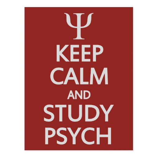 Keep Calm & Study Psych custom postcard