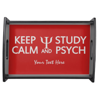 Keep Calm & Study Psych custom serving tray