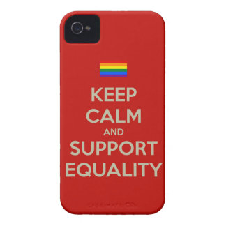 keep calm support equality Case-Mate iPhone 4 case