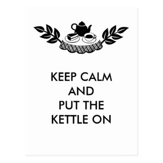 KEEP CALM TEA BREAK POSTCARD