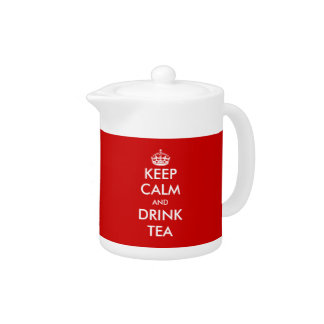 Keep calm tea pot | Customizabe design