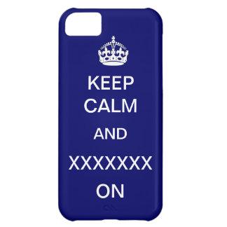 Keep Calm Template Custom Casemate iPhone 5C Case