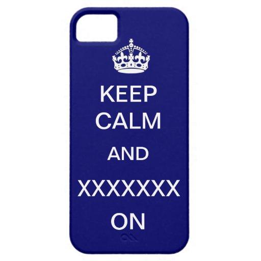 Keep Calm Template Custom Casemate iPhone 5 Cover