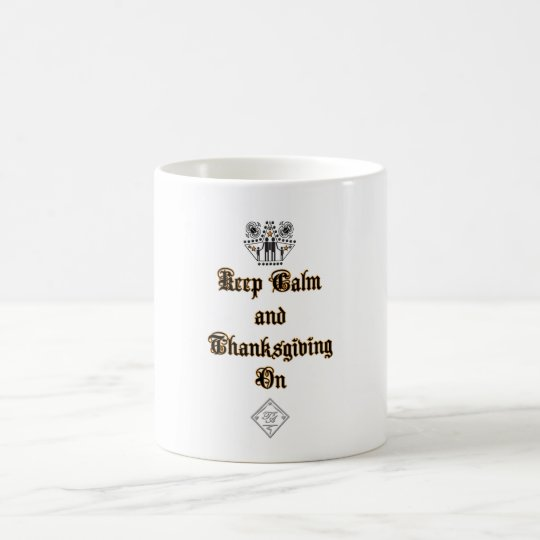 Keep Calm Thanksgiving Classic White Mug