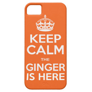 Keep Calm The Ginger Is Here iPhone 5/5s Case